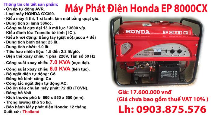 Máy phát điện Honda 8000CX