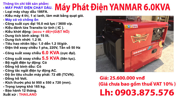 may-phat-dien-chay-dau-yanmar-6700