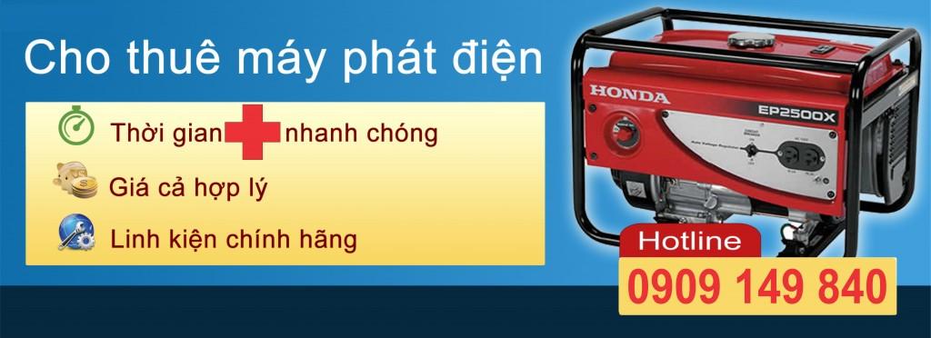 Cho thuê máy phát điện tại Tp.hcm