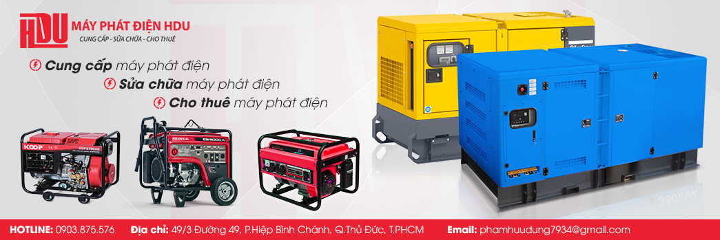 Chuyên bán máy phát điện tại TPHCM – HDU